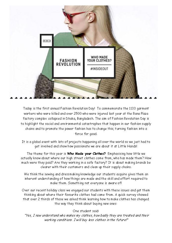 Fashion Revolution Day- #insideout