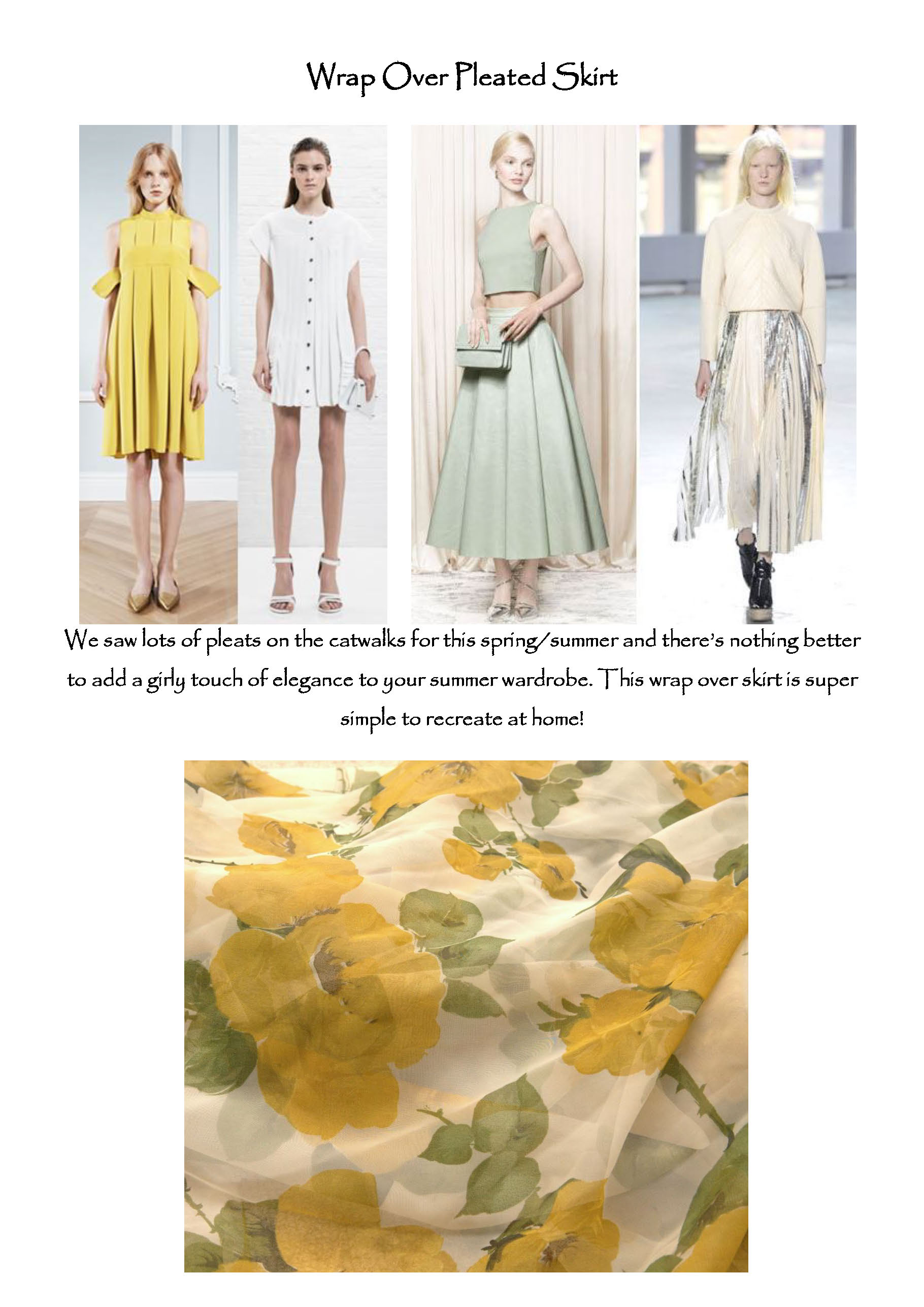 Make-It Blog! Pleated Skirt