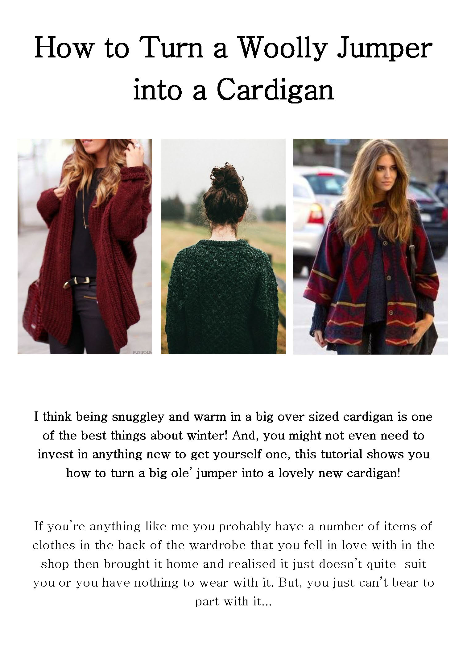 Make-It Blog! Woolly Jumper Cardy